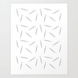 The Dark One's Dagger Art Print