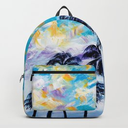Oceanside Palm Trees Backpack