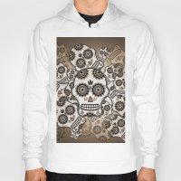 sugar skulls Hoodies featuring Sugar skulls by nicky2342