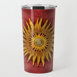 """""""Aztec Sun and pickled coral"""" Travel Mug"""