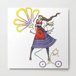 Folk Dancer Metal Print