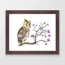 Know It Owl Framed Art Print