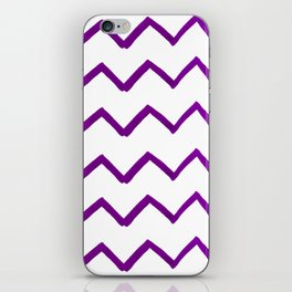 Hand painted purple white watercolor geometrical chevron iPhone Skin