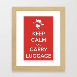 Keep Calm And Carry Luggage Framed Art Print