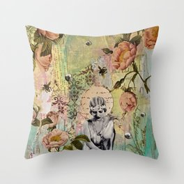 Waiting For Her Moment Throw Pillow