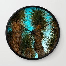 Joshua Trees on a Blue Sky Wall Clock