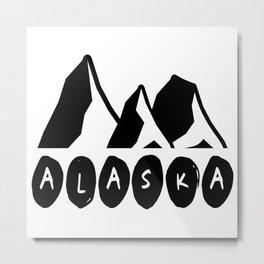 Alaska Mountains Metal Print