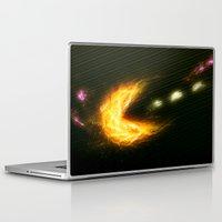 pac man Laptop & iPad Skins featuring Pac Man by Zirothar