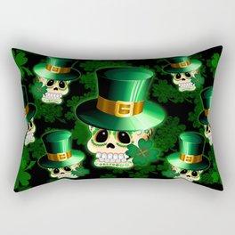 St Patrick Skull Cartoon  Rectangular Pillow
