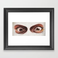 Crazy Eyes Framed Art Print