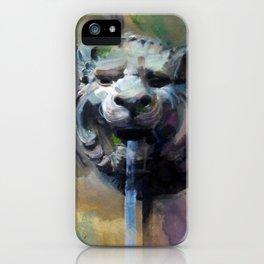 Lion Head Fountain iPhone Case