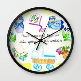Wonderful Baby Wall Clock