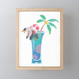Summer cocktails Framed Mini Art Print