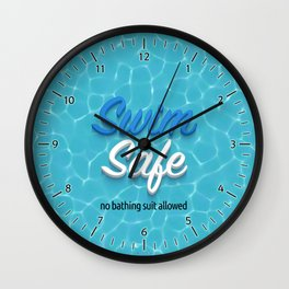 Swim Safe Wall Clock