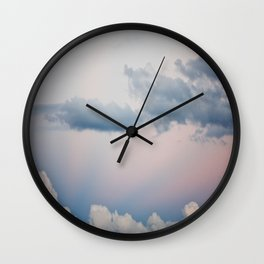 Evening's Lashes Wall Clock