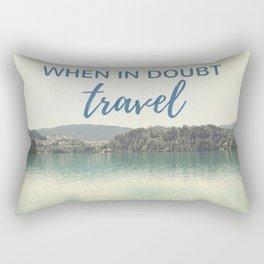 When in doubt - travel Rectangular Pillow