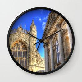 Bath Abbey And Roman Baths Wall Clock