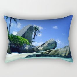 Seychelles Islands: Tropical Heaven Rectangular Pillow