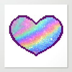 Holographic Heart Canvas Print