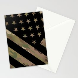U.S. Flag: Military Camouflage Stationery Cards