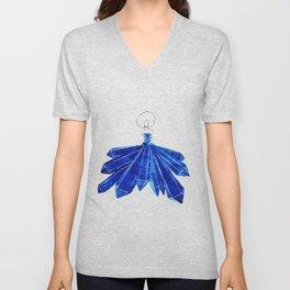 Lady Blue Unisex V-Neck