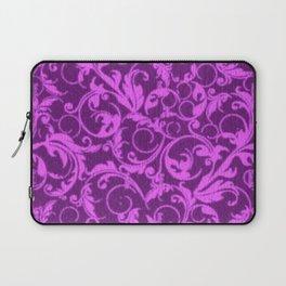 Vintage Swirls Winterberry Orchid Purple Laptop Sleeve