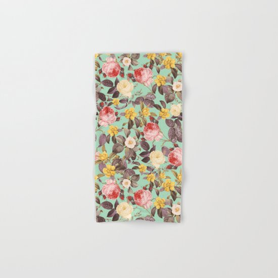 Classic Floral Pattern Hand & Bath Towel
