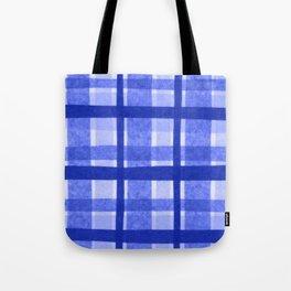 Tissue Paper Plaid - Blue Tote Bag