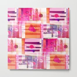 Sweet Pink Quilt Metal Print