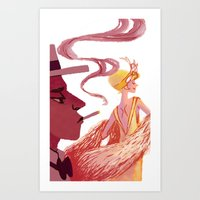 great gatsby Art Prints featuring Great Gatsby by Van Huynh