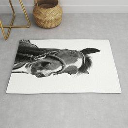 Horse Photo | Black and White Rug