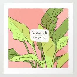 I Am Enough (Small) Art Print