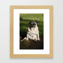 Meditating Pug Framed Art Print