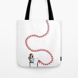 Pregnant Monkey Tote Bag
