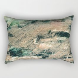 Festive Season 4     #holidays #Christmas #painting #gold #abstract Rectangular Pillow