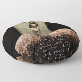 Safe Spaces - Taking Refuge in the Matrix of Love, Peace, and Dreams Floor Pillow