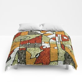 Multicolored Abstract Tribal Print Comforters