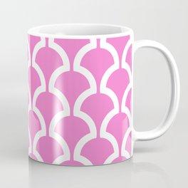 Classic Fan or Scallop Pattern 474 Pink Coffee Mug