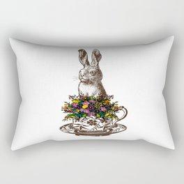 Rabbit in a Teacup Rectangular Pillow