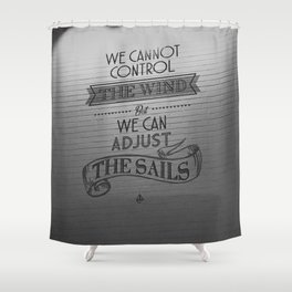 Lido words of wisdom Shower Curtain