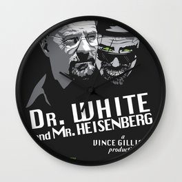 Dr. White and Mr. Heisenberg Wall Clock