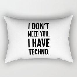 Techno Music Festival Rave Rectangular Pillow