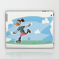 roller duck girl Laptop & iPad Skin