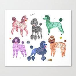 Poodles by Veronique de Jong Canvas Print