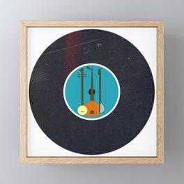 Vinyl Record Art & Design | Mid-Century Modern Music Instruments Framed Mini Art Print
