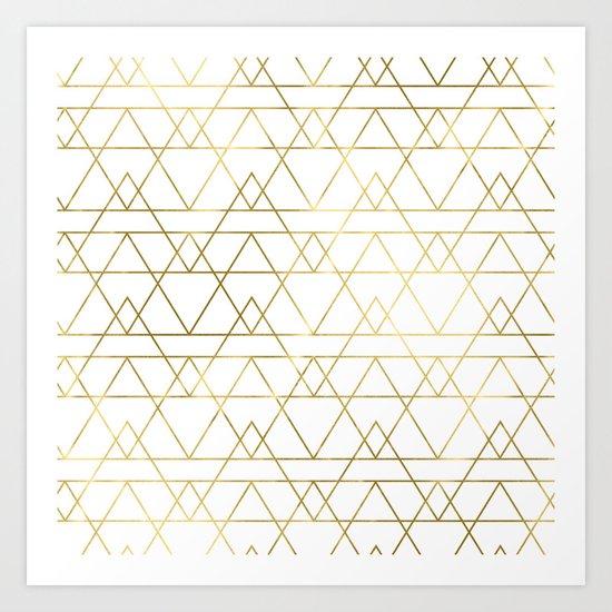 Modern Gold Art Print