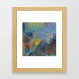 Foggy Birds Framed Art Print