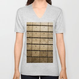 Old steel drawers from the GDR Unisex V-Neck