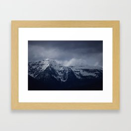 DARK MTNS Framed Art Print