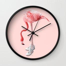 SNEAKER FLAMINGO Wall Clock